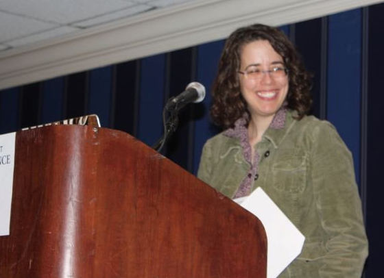 Jane speaking at the 2011 Writer's Digest Conference