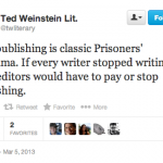 Ted Weinstein tweet on magazine publishing