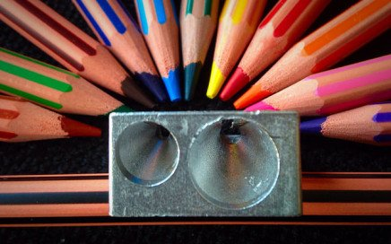 photo of pencils and sharpener by Dyfnaint via Flickr