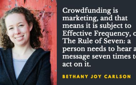 Bethany Joy Carlson crowdfunding