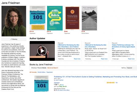 Friedman Amazon Author Central