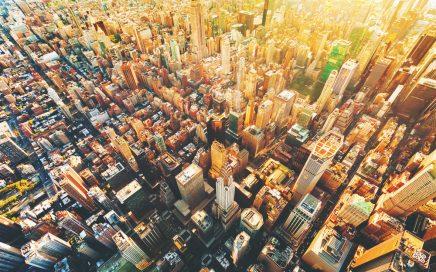 Image: aerial view of Manhattan street grid