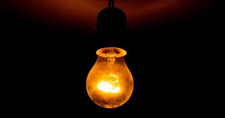 single light bulb