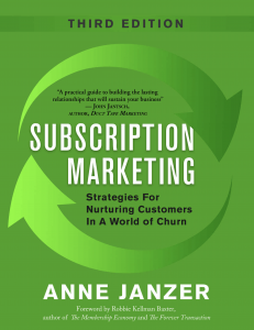 Anne Janzer Subscription Marketing Third Edition