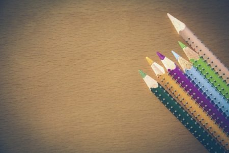 Image: sharpened pencils of different colors