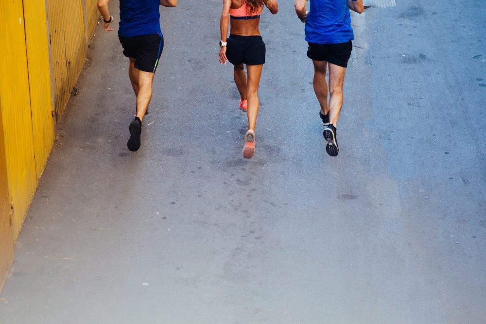 Image: three runners