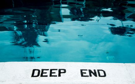 Image: deep end of a swimming pool