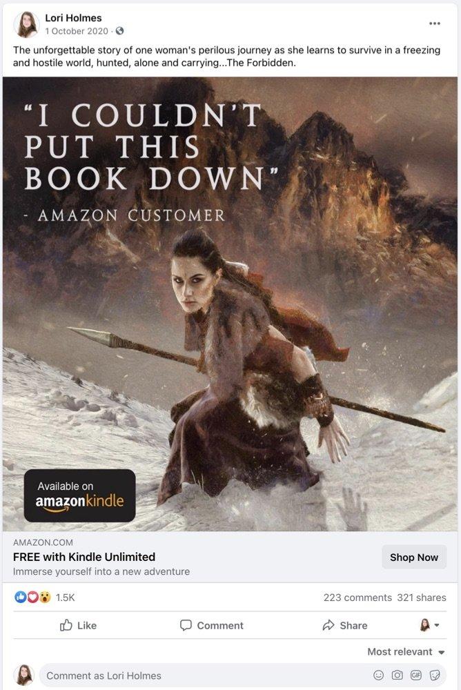 Sample Facebook ad