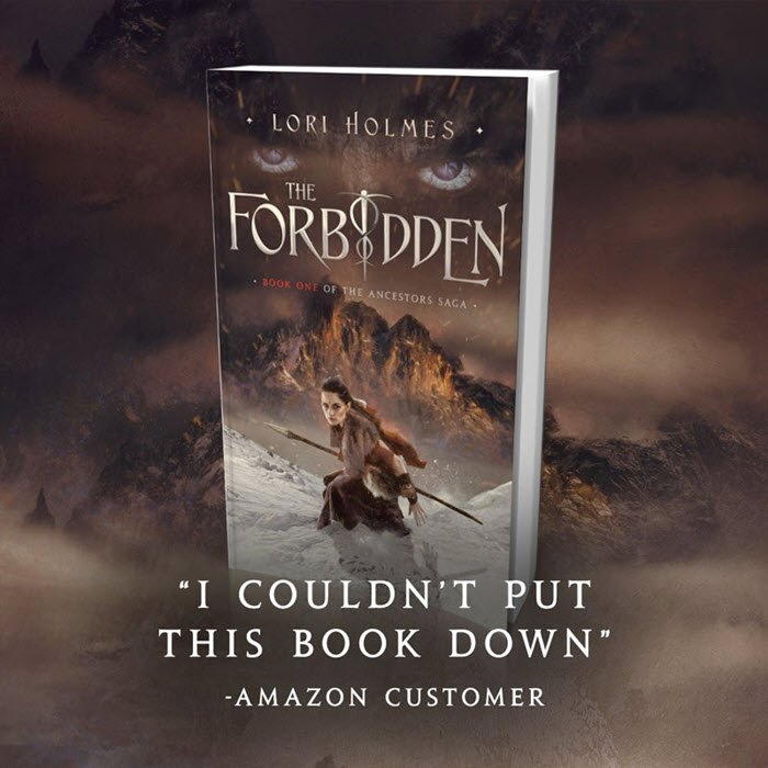 """3D image of the book cover, with the words """"I couldn't put this book down, says Amazon Customer"""" superimposed."""