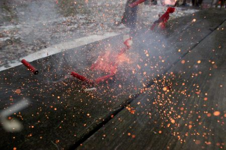Image: exploding firecrackers