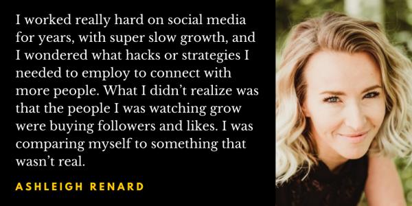 Ashleigh Renard Q&A quote